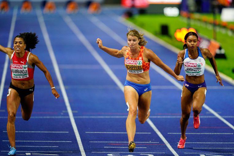 Dafne Schippers eindigt derde tijdens de 100 meter.  Beeld EPA