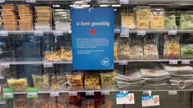 """Lege rekken in Albert Heijnwinkels door brand in distributiecentrum: """"Morgen zijn meeste producten opnieuw aangevuld"""""""