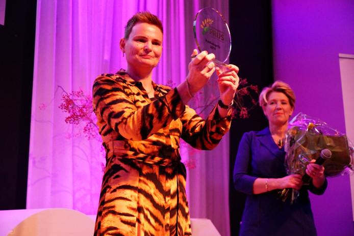 Winnaar van de publieksprijs, Kluslady Leonie Braakhuis uit Albergen.