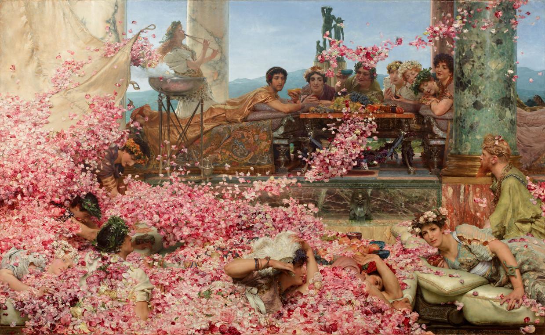 De rozen van Heliogabalus (1888) door Lourens  Alma-Tadema. Beeld Collection Juan Antonio Pérez Simón, Mexico
