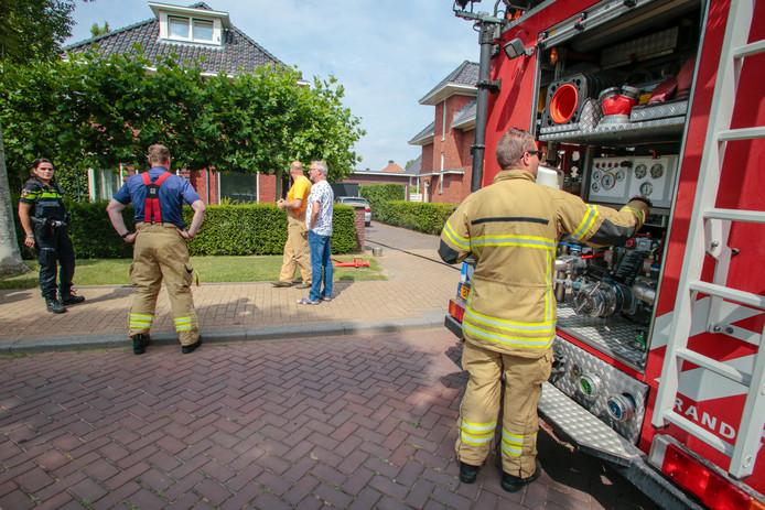 Brand in De Hoven in Dordrecht.