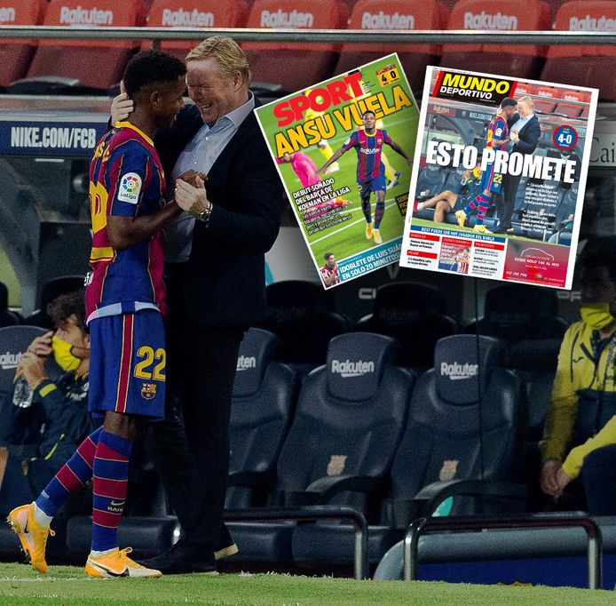 De Spaanse kranten zijn lovend over het Barcelona van Koeman.