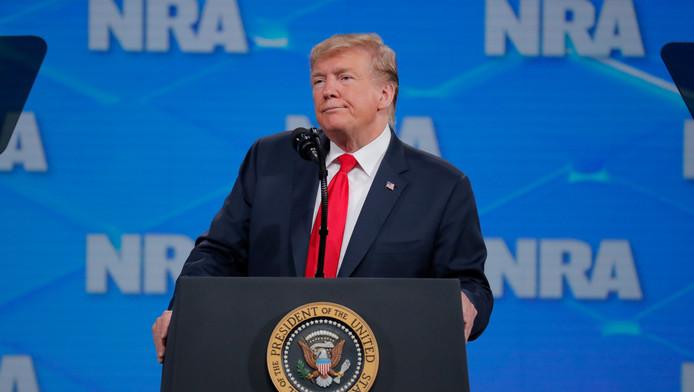 Donald Trump au meeting annuel de la NRA le 26 avril.