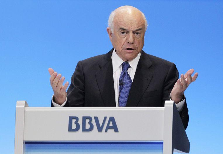 CEO Francisco Gonzalez Rodriguez van BBVA. Beeld null