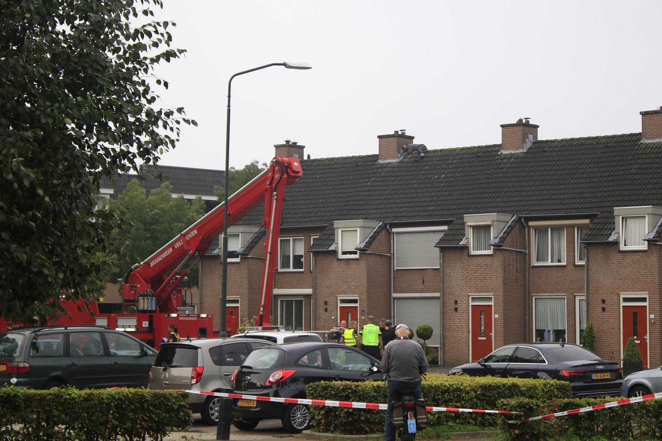 De verwarde man op het dak in Gemert.