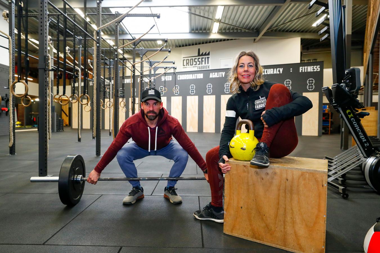 Victor en Chantal Martins de Carvalho in hun nieuwe Crossfitfabriek aan de Industrieweg in Mierlo.