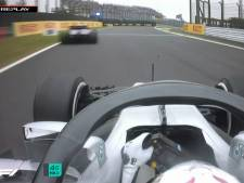 Hamilton met schrik vrij na bijna-crash met Gasly