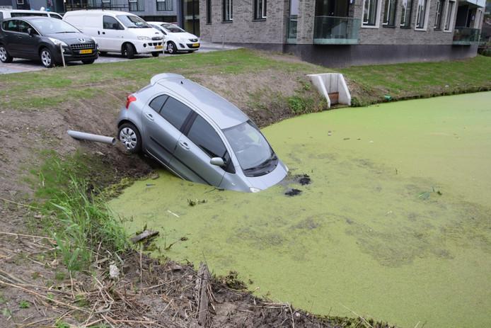 De vrouw had de auto in de verkeerde versnelling gezet en belandde in het water.