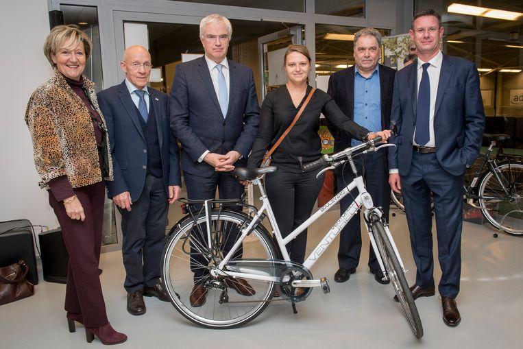 Karolien Samyn won een fiets.