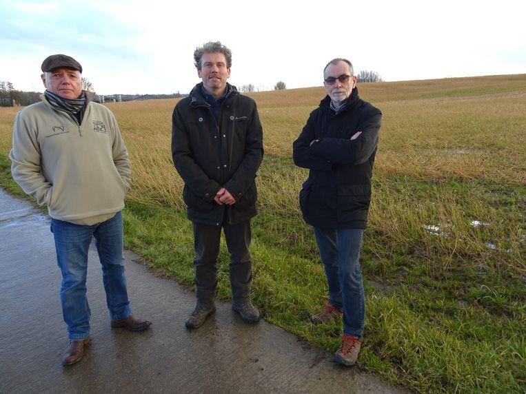 Danny Schockaert, Dirk Buysse en Patrick Rouckhout aan Wijteveld.