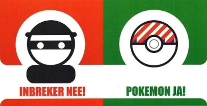 Deze sticker moet de oproep van de politie in Roosendaal ondersteunen.