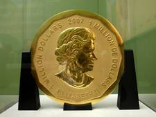 Loodzware gouden munt gestolen uit museum