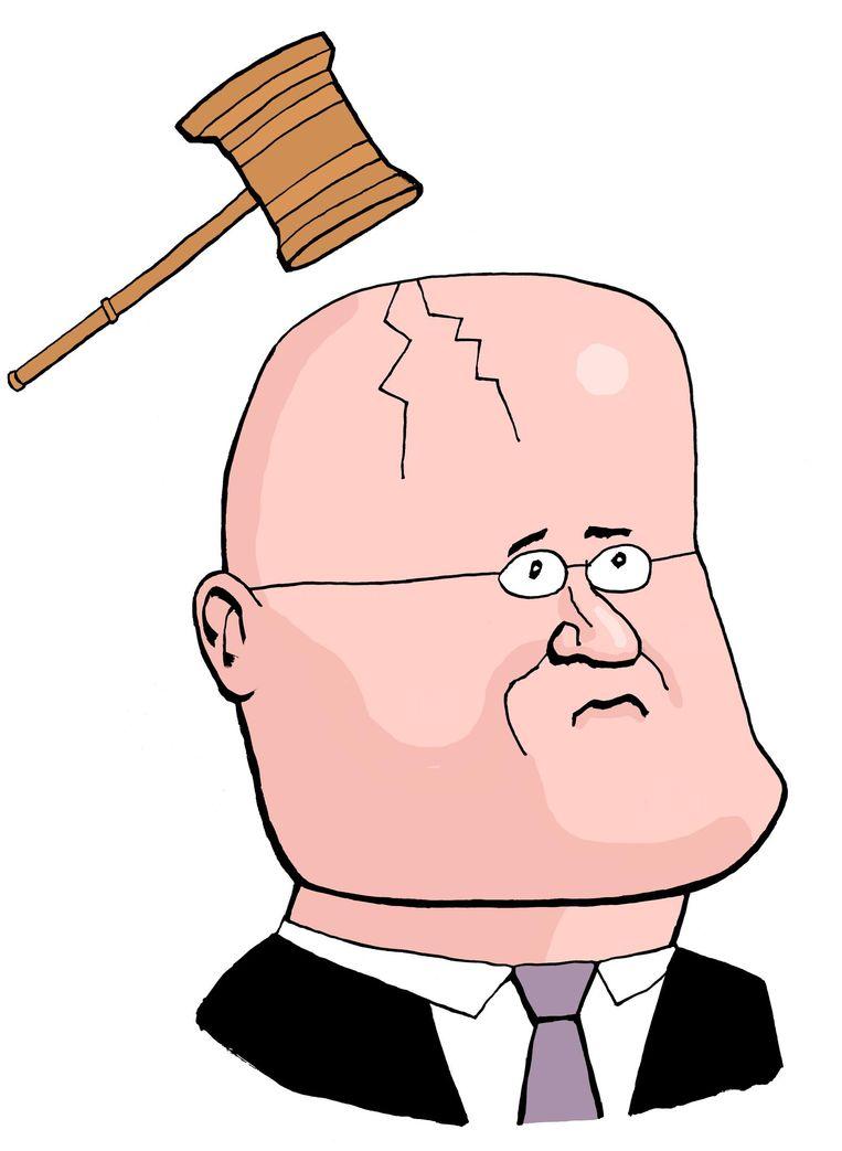 Zo uitgesproken als de jurist Ferdinand Grapperhaus (CDA) was in tweets en blogs, zo voorzichtig is hij als minister. Beeld Bas van der Schot