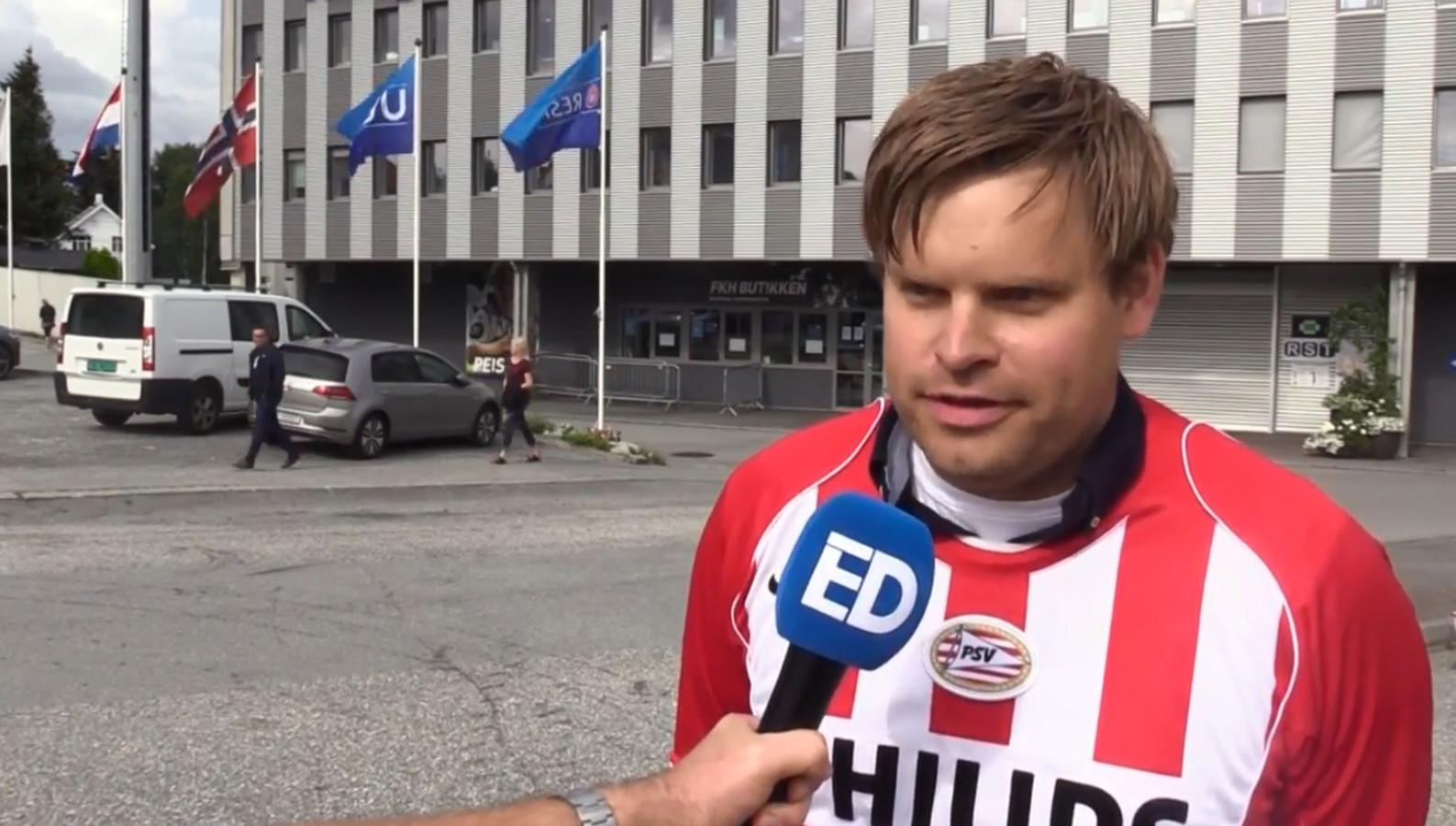 Noorse PSV-fan Gunnar Johan Sortland