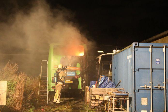 De brandweer kreeg het vuur uiteindelijk onder controle