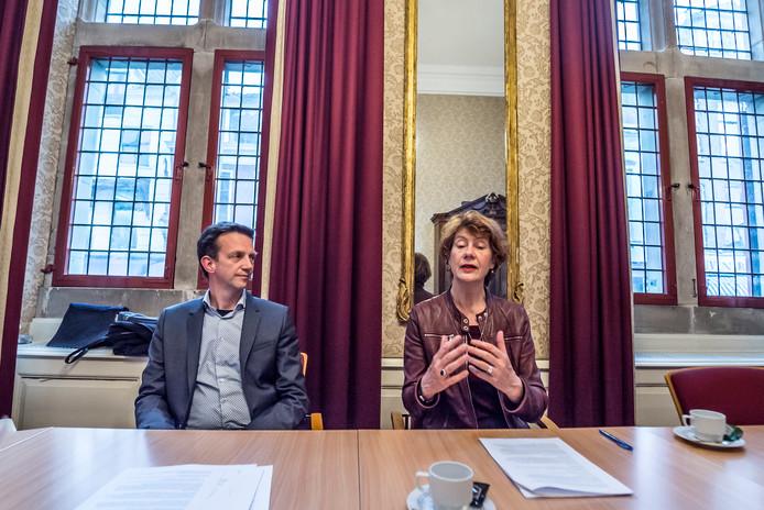 GroenLinks fractievoorzitter Frank van Vliet en verkenner Marijke Vos.