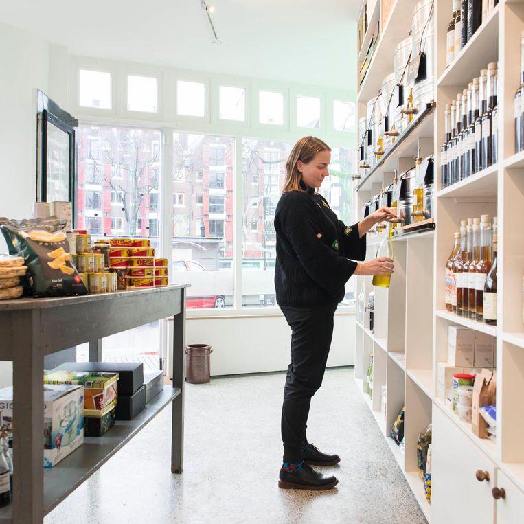 De Oliewinkel. 'Ze hebben zelfs een truffel-champagne vinaigrette' Beeld Charlotte Odijk