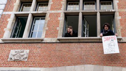 Enkele koeriers van Deliveroo bezetten nog altijd gebouw in Elsene, vakbond voert zaterdag actie in Brussel