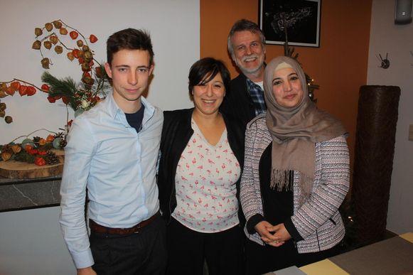 Lander Wantens, Meyrem Almaci, Andreas Verleysen en Fatma Yildiz.