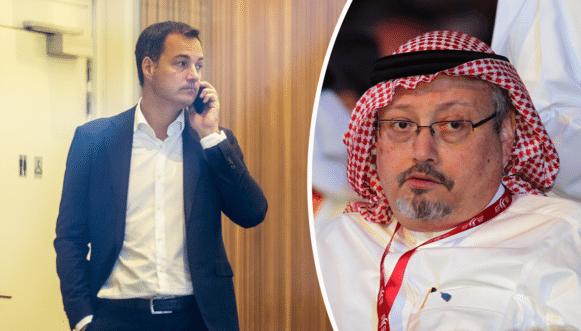 Alexander De Croo en Jamal Khashoggi.