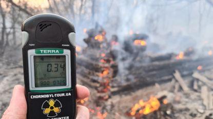 Bluswerken in radioactief gebied Tsjernobyl nog steeds aan de gang