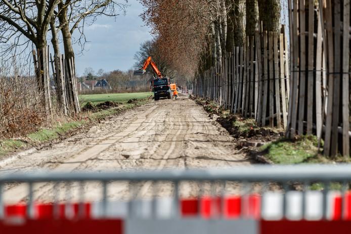In maart werd het wegdek van de Lage Zegstraat al vervangen.