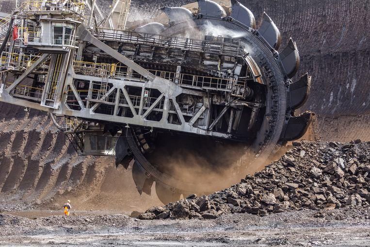 Steenkoolwinning in Hambach, Duitsland. Beeld Bloomberg via Getty Images