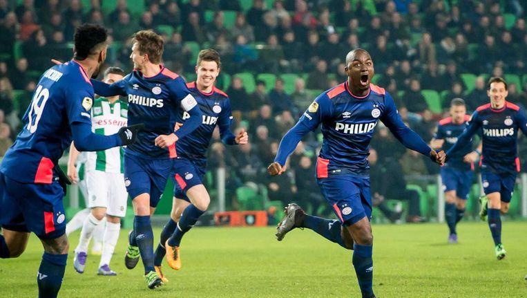 Jetro Willems juicht na de 0-1. Beeld ANP