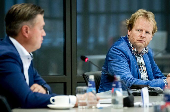 Edwin Rijkse en Ruben van der Horst tijdens een rondetafelgesprek in de Tweede Kamer, eerder dit jaar.
