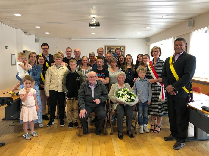 Alfons Faes en Ida Nijs vieren diamanten bruiloft in Keerbergen