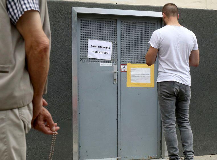 Een van de gesloten moskeeën in Wenen. Beeld AP