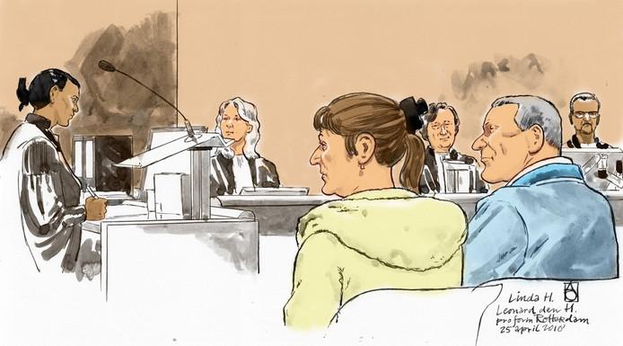 Linda H. (60) en Leo den H. (64) in de rechtbank.