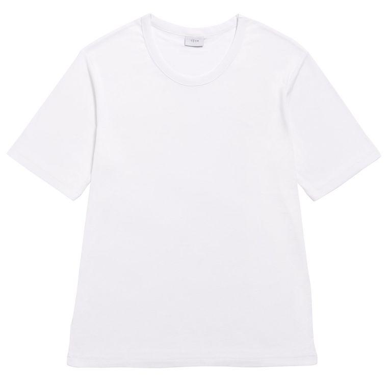 The T-shirt van 100 % biologisch katoen van Teym, € 39 Beeld packshot