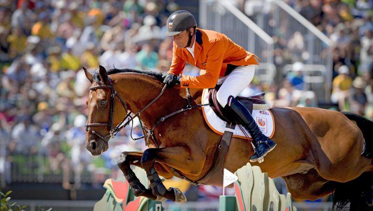 Jeroen Dubbeldam op zijn paard Zenith. Beeld null