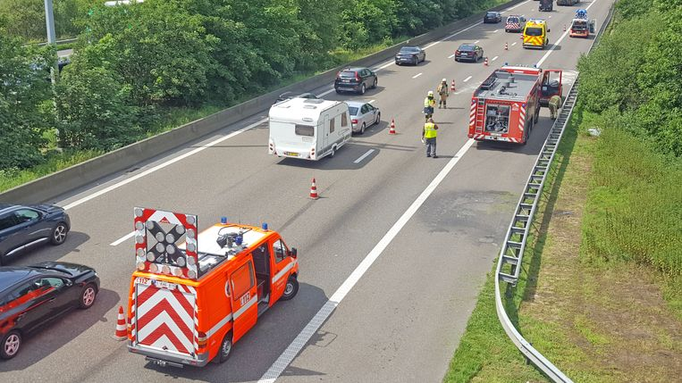 Het ongeval gebeurde op de E17 ter hoogte van Destelbergen.