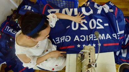 Duizenden Trump-vlaggen rollen van de band in China terwijl handelsoorlog dreigt