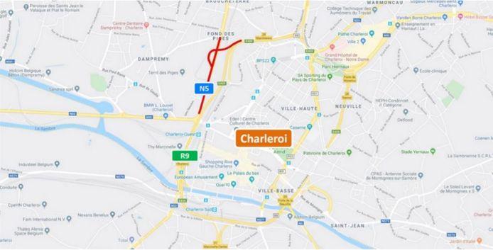 Travaux prévus sur la N5 à Charleroi