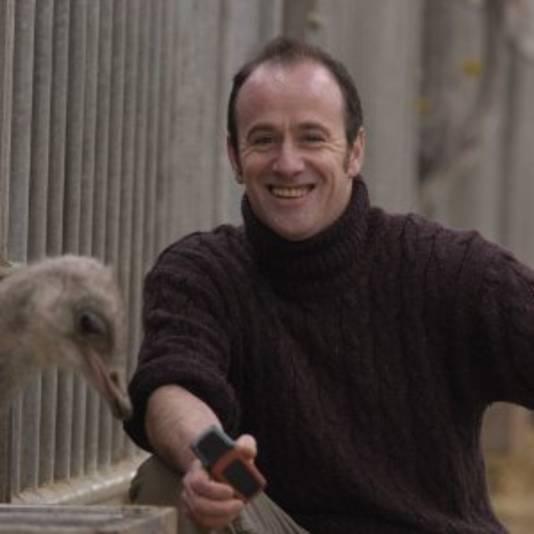Bert Neirinck is gespecialiseerd in struisvogels.