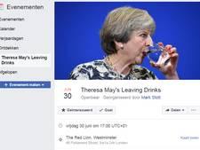 Ludiek Facebook-event voor afscheidsborrel May gaat viraal