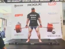 """""""La Montagne"""" de """"Game of Thrones"""" a battu le record du monde avec 501 kilos soulevés"""