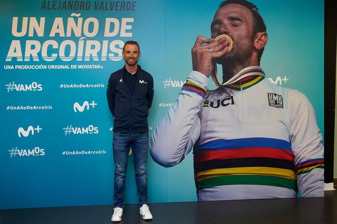 Alejandro Valverde bij de presentatie van zijn docu.