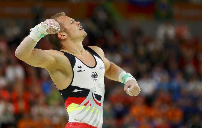 Fabian Hambüchen op de Spelen van Rio de Janeiro.