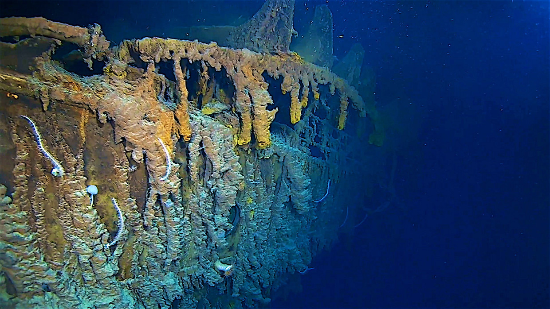 De beelden van de Titanic laten zien dat het schip veel erger is aangetast door het zoute water dan eerder werd gedacht.
