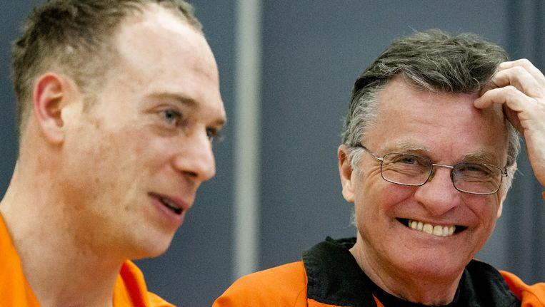 Mitch Fenner met Yuri van Gelder. Beeld anp