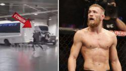 McGregor geeft zichzelf aan nadat politie hem zocht voor deze bizarre actie