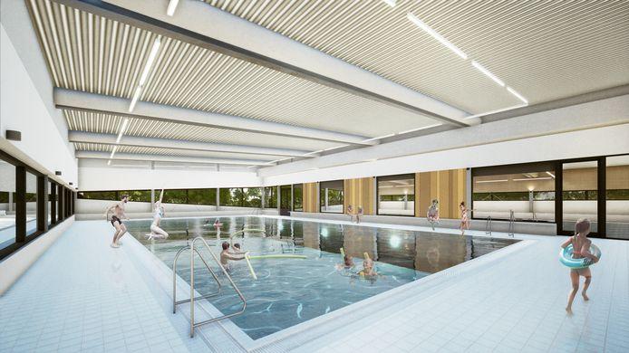 Een impressie van het nieuwe zwembad.