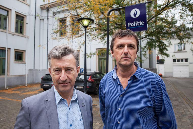Acteurs-rechercheurs Danny Rijckbosch en Luc Onderdonck.