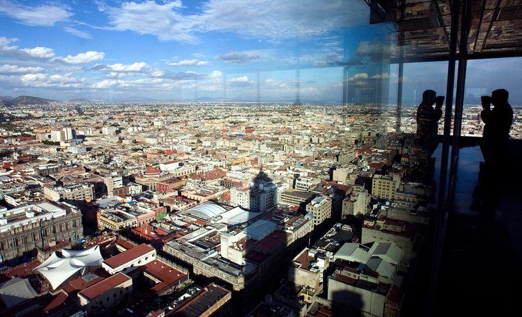 Uitzicht over Mexico Stad.  Beeld AP