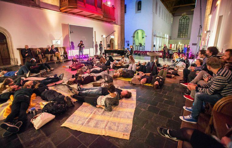 De finale van het Geestdrift Festival in Utrecht, afgelopen jaar. Morgen is John Caputo er een van de sprekers. Beeld Werry Crone, Vleuten