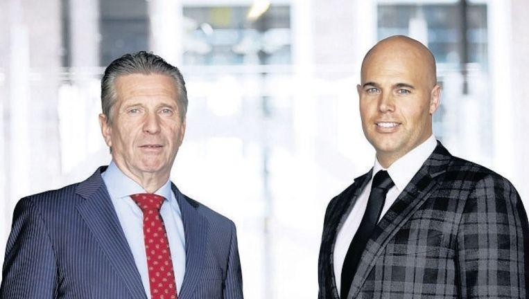 Oprichters van VNL: Louis Bontes (l) en Joram van Klaveren. Beeld anp